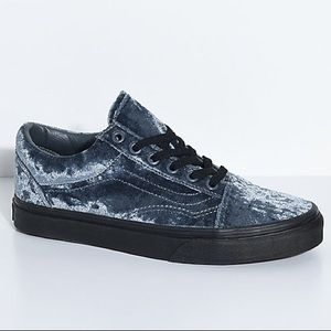 NEW In Box Crushed Velvet Vans Grey Gray 5 6.5
